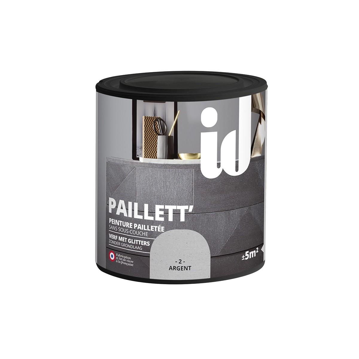 Peinture d corative paillett 39 meuble id paris for Peinture sans sous couche pour meuble